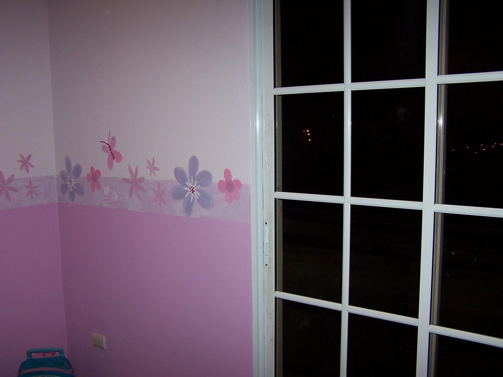 Matices pintura decorativa cenefa para habitaci n de ni a - Como pintar una pared ya pintada ...