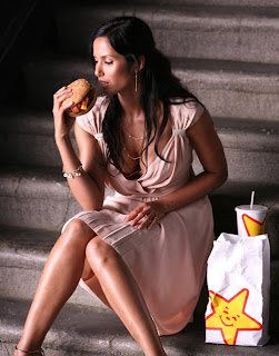 Padma Lakshmi and the Art of Erotic Burger Eating