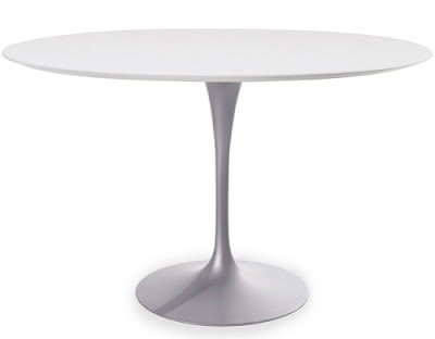 Saarinen Large Round Dining Table Original Design With Marble Table