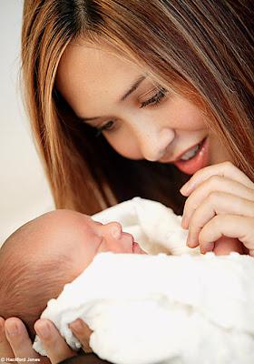 Myleene Klass and daughter Ava