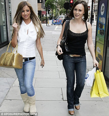 Chanelle Hayes and Chantelle Houghton shopping in London