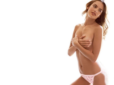 Alessandra Ambrosio sexy topless wallpapers