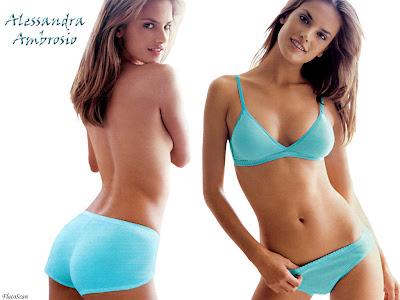 Alessandra Ambrosio lingerie wallpaper