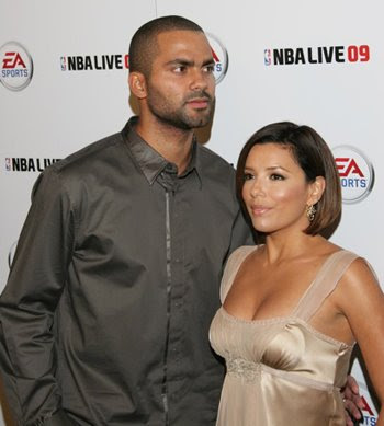 Eva Longoria  and basketball player Tony Parker