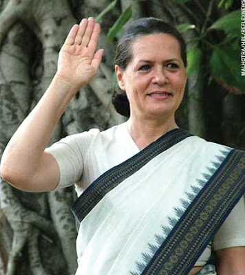 Indian Congress Party Leader Sonia Gandhi