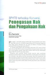 BPHTB Terhadap Konversi, Penegasan Hak dan Pengakuan Hak