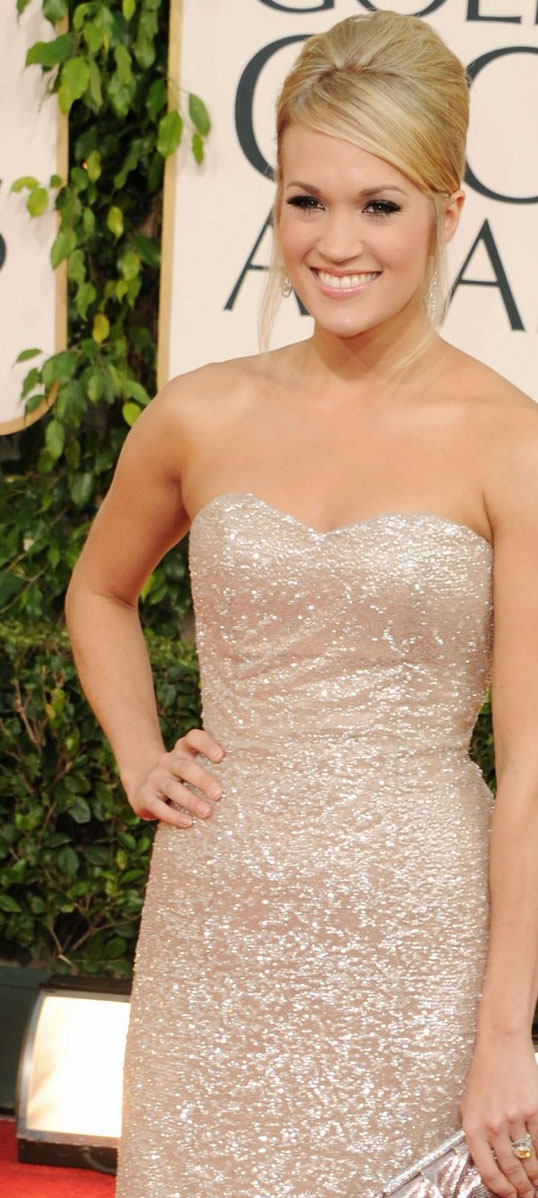 carrie underwood golden globes dress. Anyhoo. If she IS preggo,