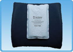 Sit Back Rest PLUS Ice Pack/Hot Pack- A Lumbar Support Cushion with Therapeutic Benefits