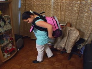Eleven Year Old Amanda from Brookyln NY describes how her old back pack hurt her neck, shoulders and back. Read what she says about her new Pink AirPack BackPack- The Pain is Off, she States !
