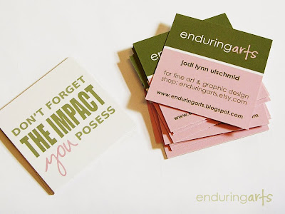 Touched creatively for Uprinting business cards
