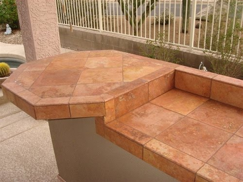 Outdoor Kitchen Construction: Tiles, tiles and more tiles.....