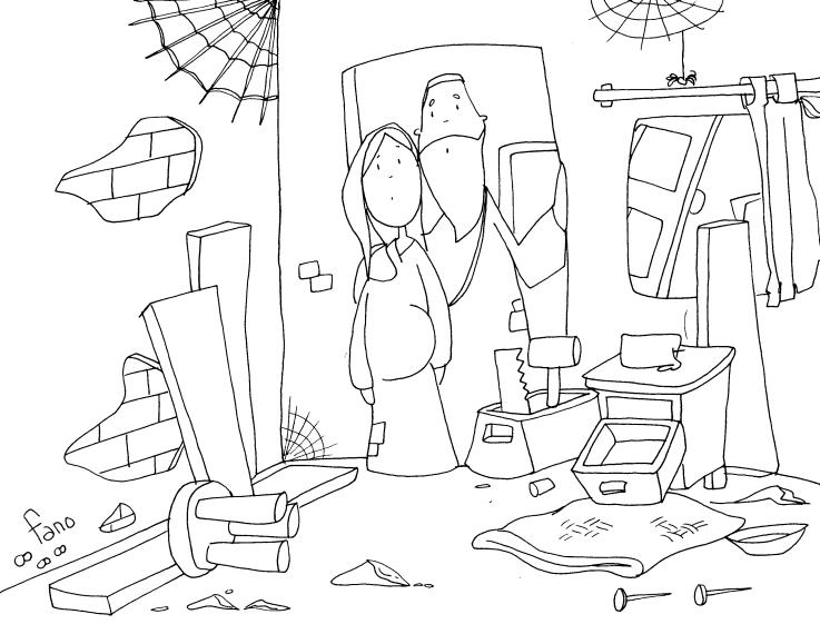 Niños limpiando el aula para colorear - Imagui
