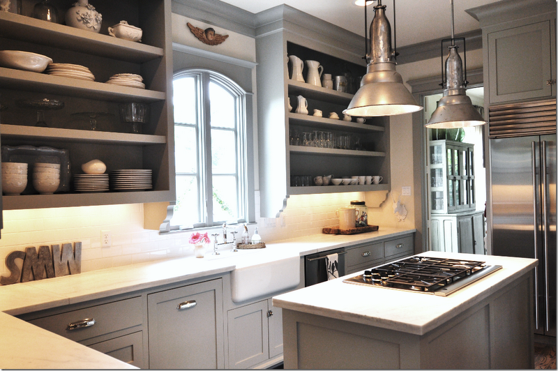 Header gray kitchen love for Grey wall paint kitchen