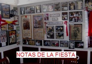 NOTAS DE LA FIESTA. Acceder en la Foto