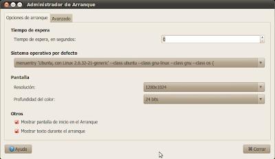 Administrador de Arranque: Sin logo de Ubuntu