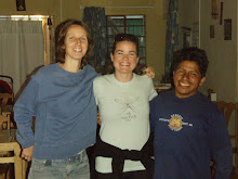 Erika with the Peruvian-Dutch couple we stayed with in Nazca.