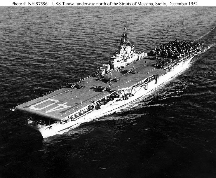 naval warfare  uss tarawa  cv