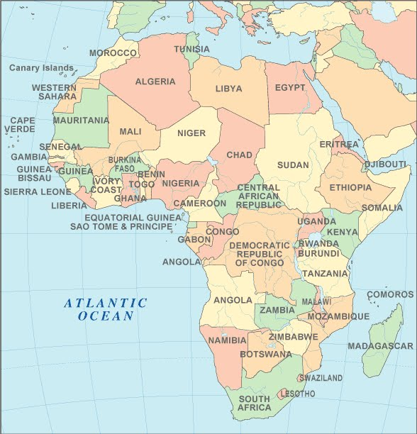 africa ethnicity map