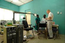 De behandelkamer in Bawku Hospital