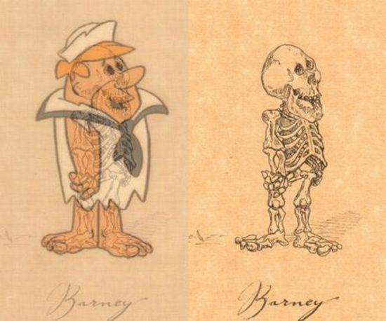 Diary Addict The Skulls Of Cartoon Characters