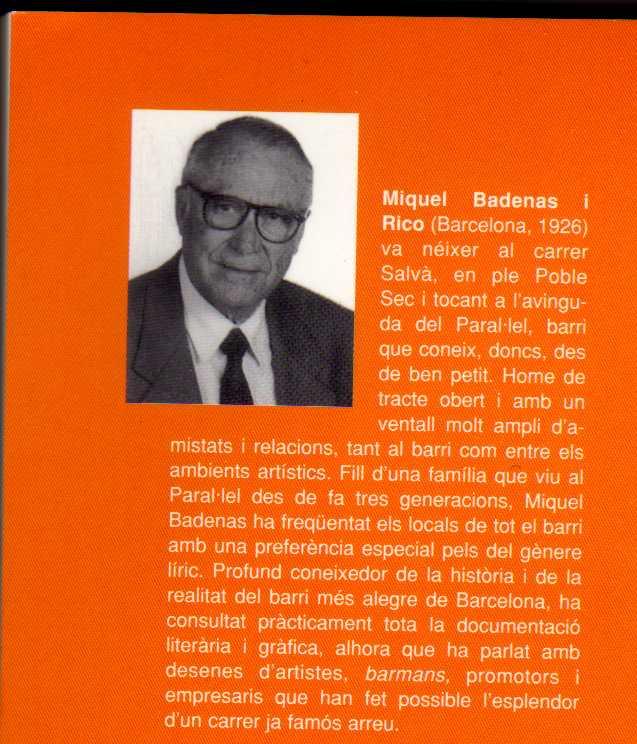 Homenatge de la Gala pro Talia Olympia a Miquel Badenas i Rico