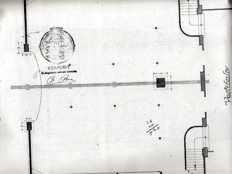 Plànol  Saló Amaya anys 40