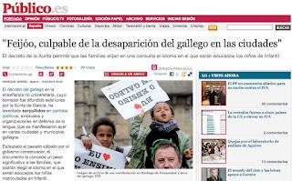 Feijoo culpable de la desaparición del gallego en las ciudades