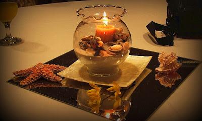 Porta velas de cristal