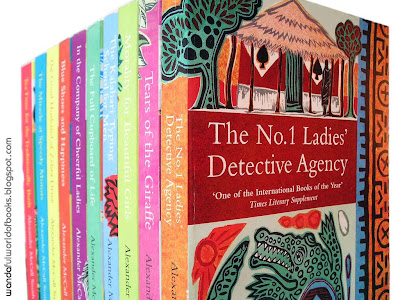My copy of The No.1 Ladies' Detective Agency Series, by Alexander McCall Smith, Paperback