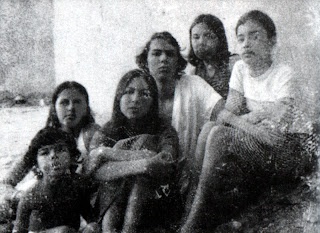 The Oufkir Children Abdellatif, Maria, Malika, Raouf, Myriam and Soukaina in 1974 in a picture smuggled out of gaol