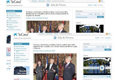 """Nova sala de premsa de """"la Caixa"""""""