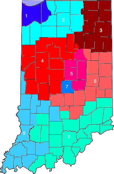 Potential Indiana Map, 2012