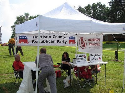 Harrison County Republican booth at the 2009 Palmyra Fish Fry