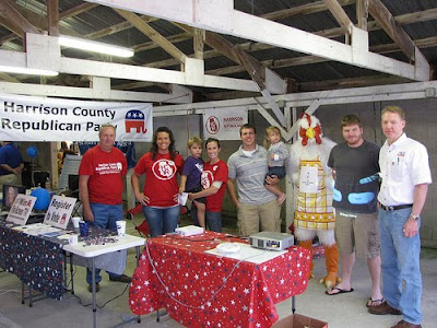 The Republican & Young Republican booth at the 2009 Cockadoodle Days festival in Corydon.