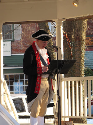 Patriot Paul reads the Declaration of Independence at the Corydon Tea Party.