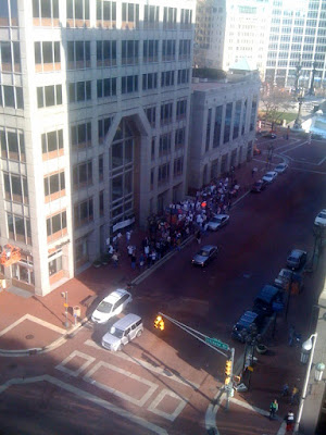 Anti-ObamaCare Rally Outside Evan Bayh's Downtown Indy Office