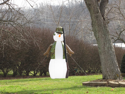 Inflatable Redneck Snowman