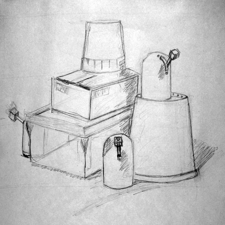 Still Life Drawing - DSC