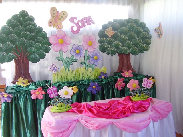 ACUARELA: Flores y mariposas