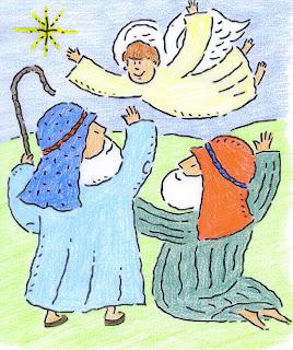 MATERIALES DE RELIGIÓN CATÓLICA: NAVIDAD INFANTIL. EL ÁNGEL Y LOS ...