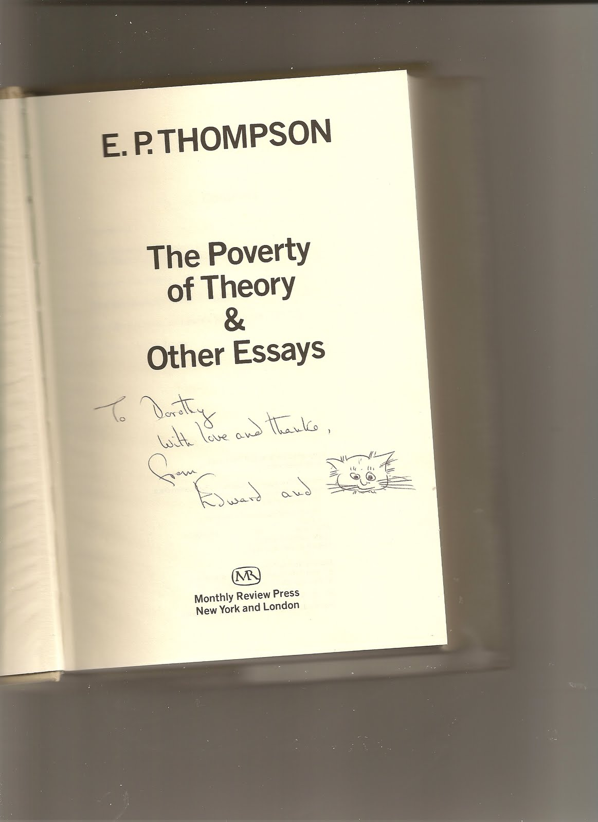 the poverty of theory and other essays Theory two: poverty is structural the left-wing view is that poverty is a structural phenomenon on this view, people are in poverty because they find themselves in.