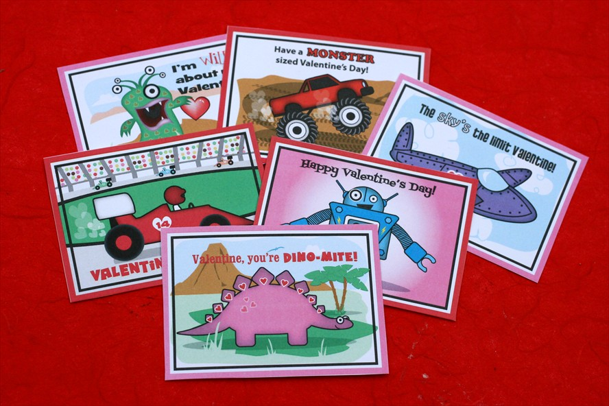 Handmade Cards For Boys. the BOY Valentine Cards.