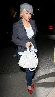 Christina Aguilera's Christian Louboutin Loubette purse, designer handbag