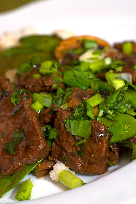 ... Spice by Celeste: Beef, Shiitake & Snow Pea Stir-Fry with Coconut Rice