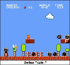 Mario under attack.