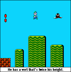 Luigi jump.