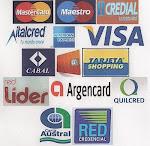 Aceptamos Tarjetas de Crédito y Débito