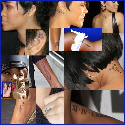 rihanna tattoo pictures. about Rihanna#39;s Tattoos.