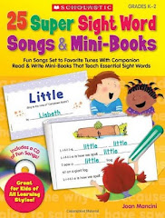 Check out my Book: Super Sight Word Songs and Activities to teach Sight words