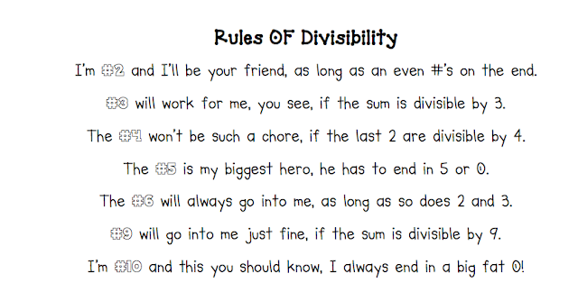 divisibility rules worksheet 6th grade pdf